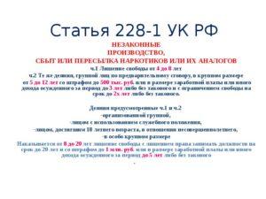 228 часть 2 как получить условно