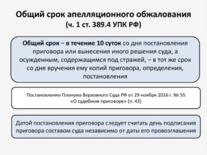 Форма И Содержание Апелляционных Жалоб Упк