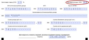 Код Вида Дохода 020 В 3 Ндфл В 2020 Году