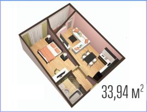 Сколько в среднем кв метров должна быть 1 комннатная квартира