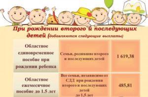 Что положено на рождение третьего ребенка в москве
