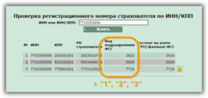 Фсс регистрационный номер сколько цифр
