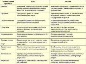 Аудит и ревизия отличия и сходства