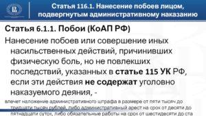 Если нет побоев как избежать административного наказания по ст.6.1.1.