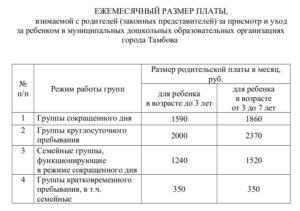 Сколько нужно платить за садик ясельки до 3 лет