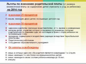 Закон о детских садах льготы для работников доу