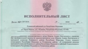 Исполнительый лист после решения суда арбитражного