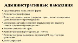 Примеры Административных Наказаний Штраф