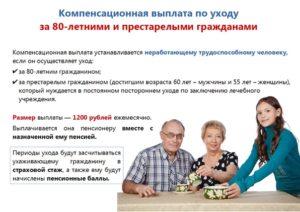 С какого возраста можно оформить пособие по уходу за пожилым человеком