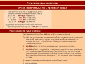 Опекунство над ребенком сколько платят 2020 в башкирии