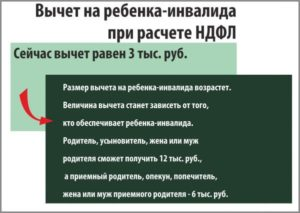 Сумма Льготы По Ндфл На Ребенка  Инвалида