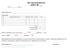 Акт выполненных работ на сто с рекомендациями