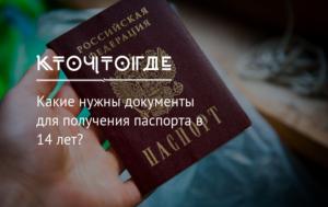 В каком году стали получать паспорт в 14 лет