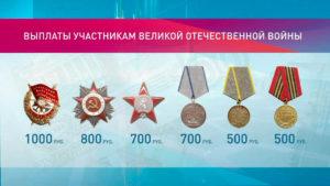Выплаты за награды в россии
