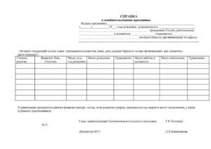 Документы для получения справки об семейно имущественном положении