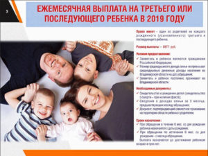 Что дают за третьего ребенка в московской области