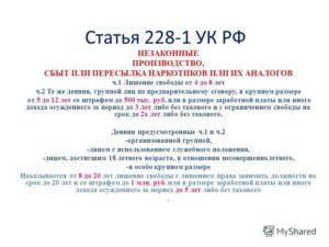 Ст 228 Ч 1 Прим 1 Ук Рф Изменения В Октябре 2020 Году