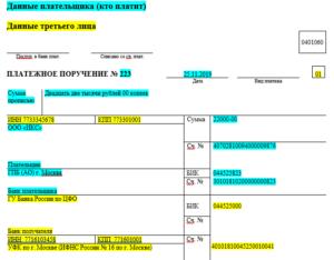 Формулировка платежного поручения при уплате ндс налоговым агентом